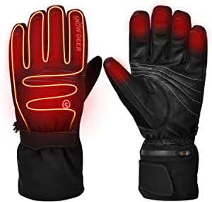 Heated Gloves,Motorcycle Gloves,7.4V 2200MAH Electric Rechargable Battery Gloves for Men Women,Winter Riding Cycling Hunting Fishing Ski Warm Insulated Mitten Glove Hand Warmer for Raynaud Arthritis