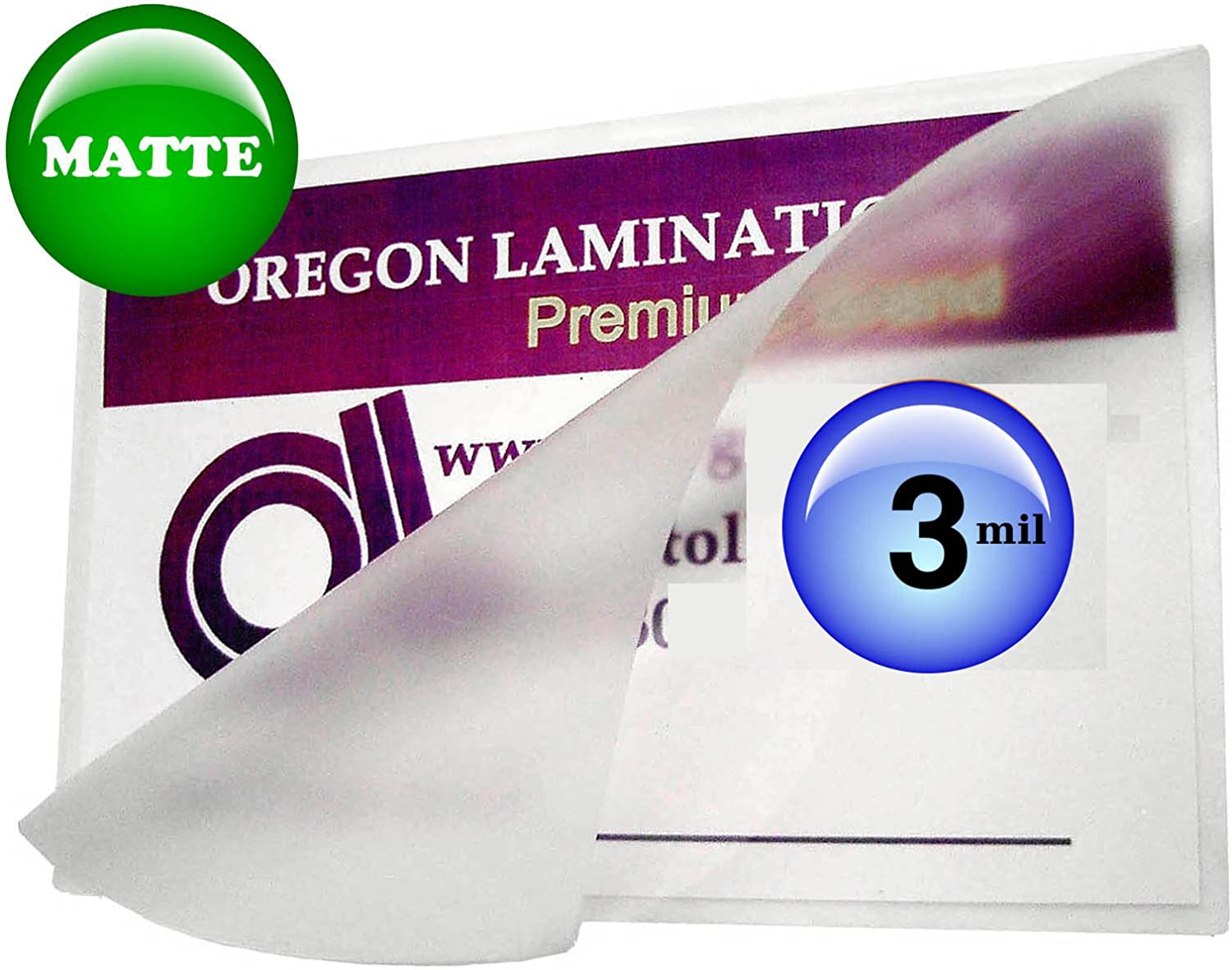 Oregon Lamination Hot Laminating Pouches Letter (Pack of 100) 3 Mil 9 x 11-1/2-inch Matte/Matte