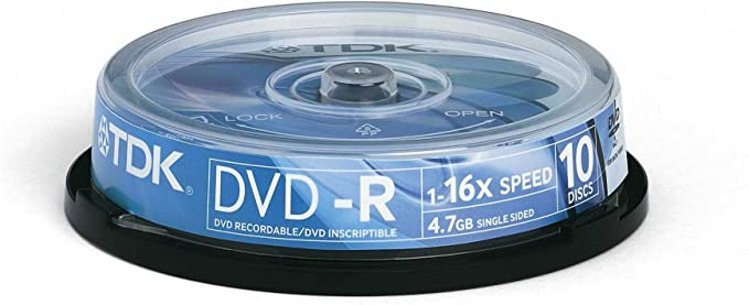 TDK - Pack 10 DVD-R 4,7 GB: Amazon.es: Informática