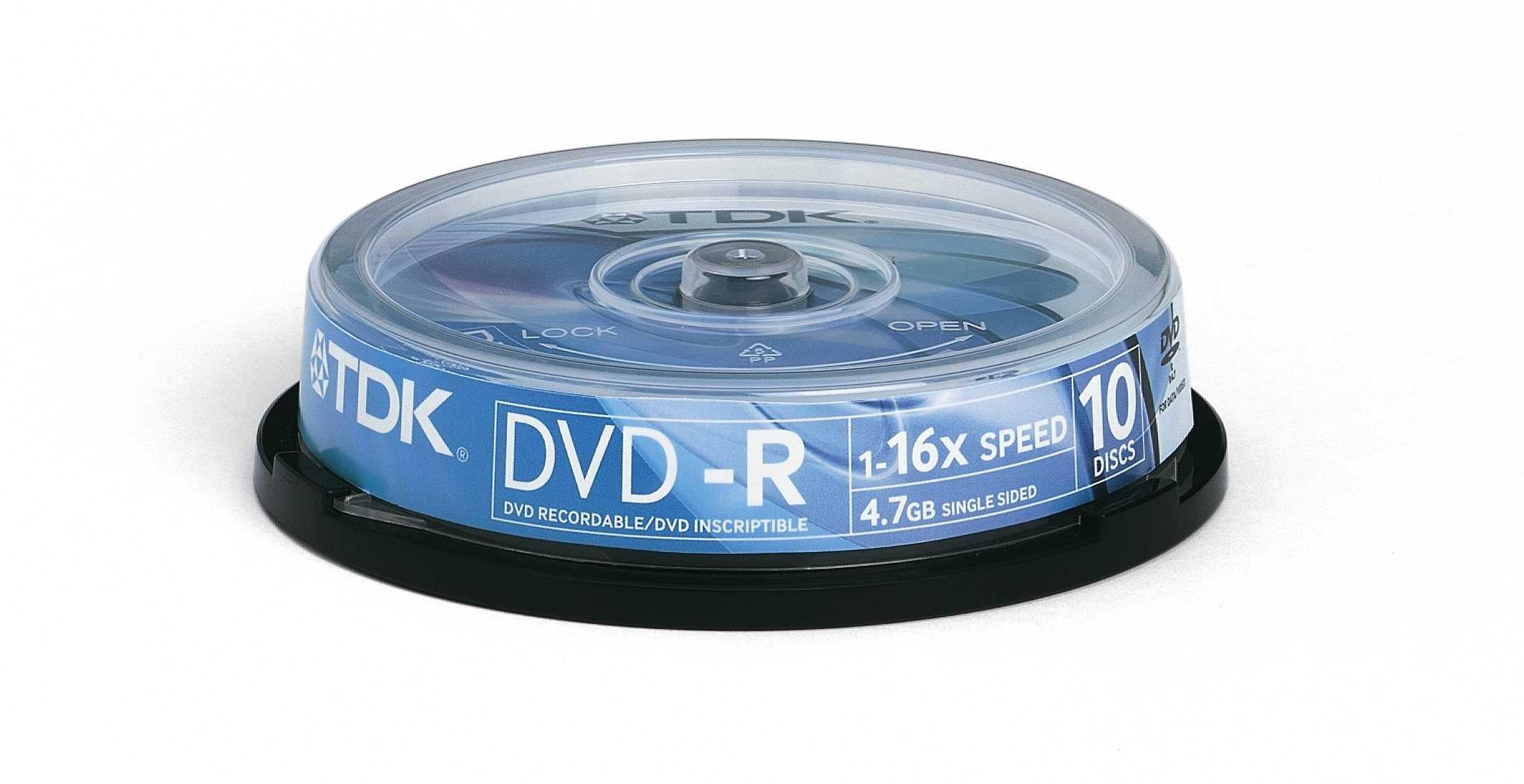 Tdk- - 10 X Dvd-r 4.7 Gb 16x - Spindle - Storage Media
