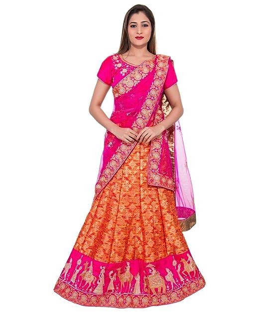 Milonee Indian Ethnic Bollywood Mujer Impreso Diseñador Sin costura Cordón Frontera Lehenga Choli Conjunto Boda Fiesta