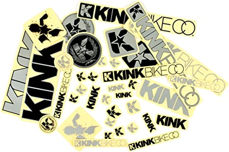 Kink BMX white eng Bicycle Cycling Sticker Decal