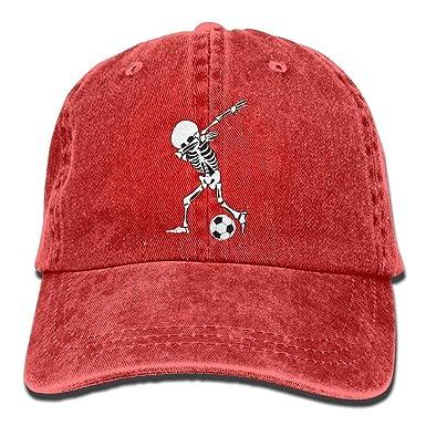 Sombrero de papá Unisex Esqueleto Balón de fútbol Grupo Personal ...