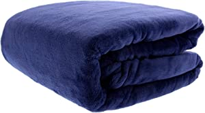 THE FIREFLY COLLECTION Ultra Plush Throw Blanket, 50 x 70 Inches, Navy – Use as Your Couch Throw Blanket or Comfy Chair Blanket Throw – A Perfect Fluffy Blanket for Home and Travel