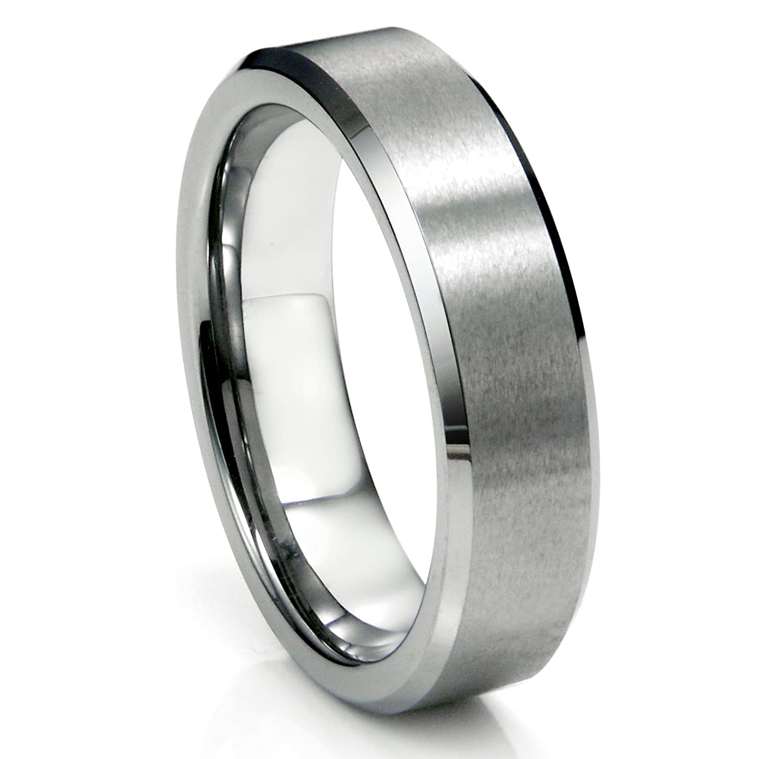 6MM Tungsten Satin Mens Wedding Band Ring Size 5 16