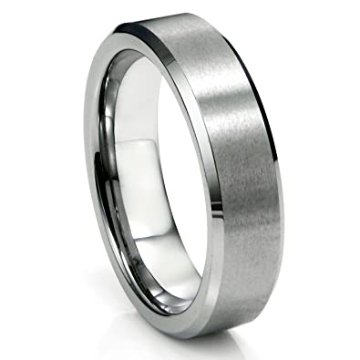 6MM Tungsten Carbide Satin Mens Wedding Band Ring Sz 50