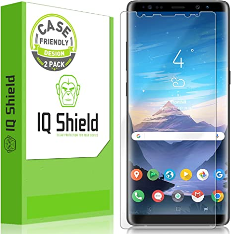 bébé vaste sélection 2019 professionnel IQShield Screen Protector Compatible with Samsung Galaxy Note 8  (2-Pack)(Case Friendly)(Not Glass) Anti-Bubble Clear Film