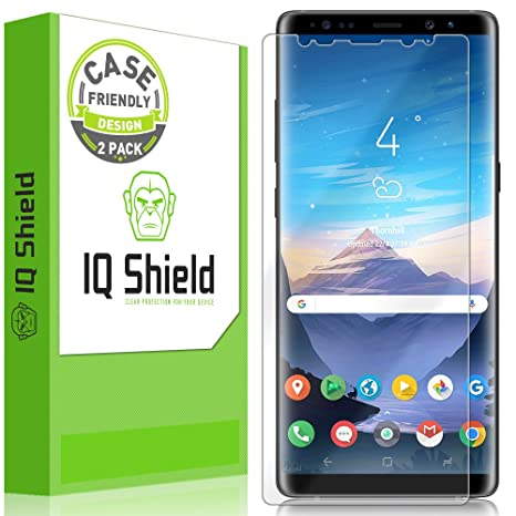IQShield Screen Protector Compatible with Samsung Galaxy Note 8  (2-Pack)(Case Friendly)(Not Glass) LiquidSkin Anti-Bubble Clear Film
