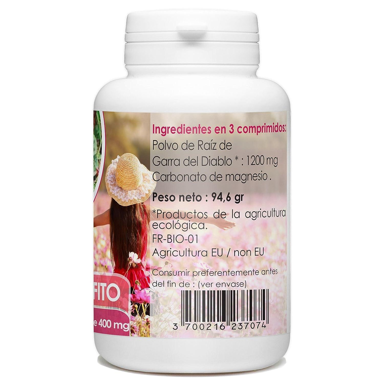 Harpagophytum Organica - Diablos Garra - 200 tabletas 400 mg: Amazon.es: Salud y cuidado personal