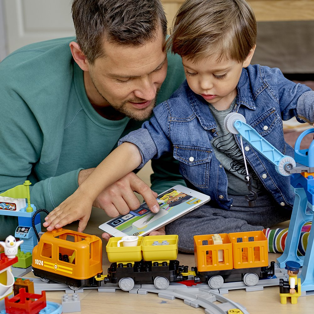 LEGO DUPLO Cargo Train 10875 Battery-Operated Building Blocks Set, Best Engineering and STEM Toy for Toddlers (105 Pieces) (Amazon Exclusive) by LEGO DUPLO Trains (Image #3)