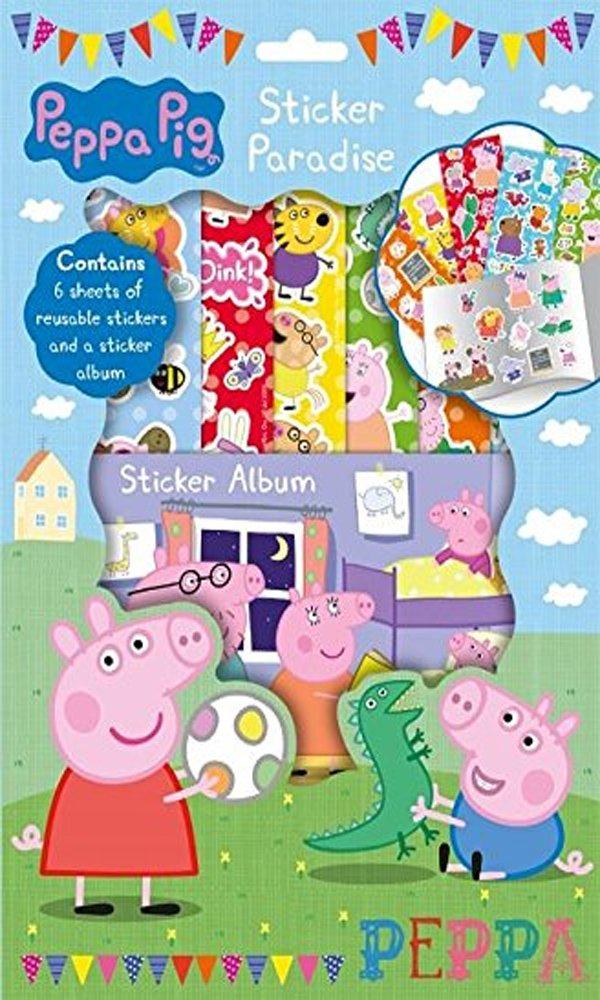 Peppa Pig Etiqueta Paradise 6 Hojas de Adhesivos Reutilizables y una Hoja de Etiquetas Anker PESPA