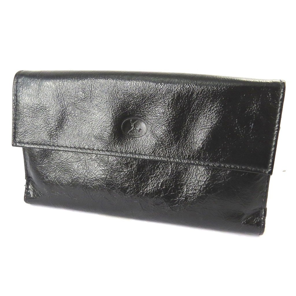 Wallet + checkbook holder leather 'Frandi' black red varnish. by Frandi (Image #4)