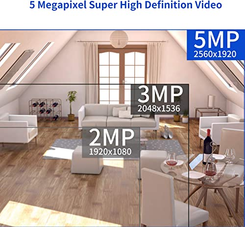 5MP Security Camera System, NexTrend 4CH Weatherproof Outdoor Indoor Wired Surveillance System, 5MP DVR with 4pcs 5MP Super HD Business Camera, Remote Access Motion Detection, No HDD