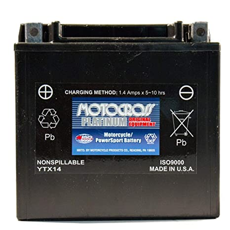 Amazon.com: 12V 12Ah Battery for Kawasaki 1400 Ninja ZX-14 ...