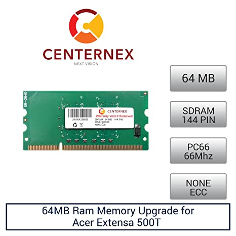 64mb ram memory for acer extensa 500t (pc66) laptop memory upgrade.