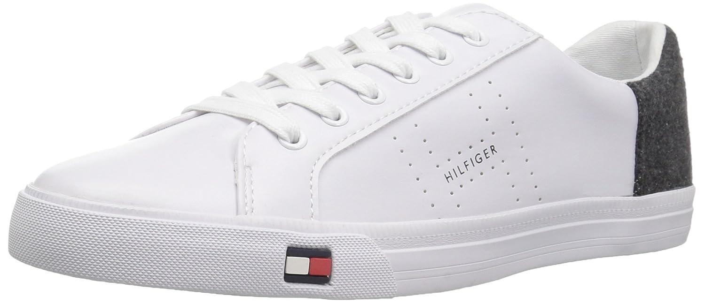 Tommy Hilfiger Women's Lune Sneaker B0735RJ892 9.5 B(M) US|White/Grey