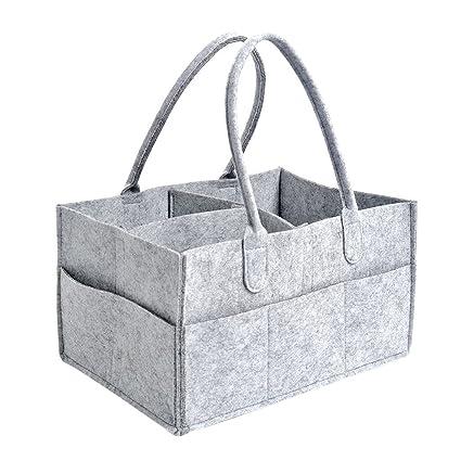 Bebé pañales organizador Caddy – BUTEFO portátil bolsa de pañales y toallitas para bebé de almacenamiento