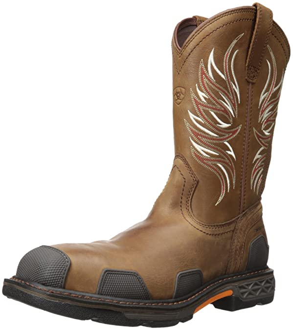 Men's Ariat Workhog Wide Square Toe, Size: 7.5 D, Toast Premium USA Full Grain Leather