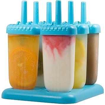 Compra HelpCuisine - Molde para Helados/Moldes de Polos - Juego de Seis Unidades sin BPA y Aprobado por FDA. 24 Meses de Garancia! (Azul) en Amazon.es