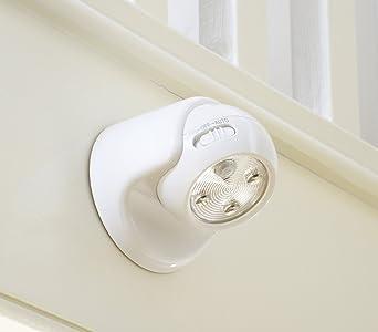 Auraglow Lampe De Securite A Pile Avec Detecteur De Mouvement A