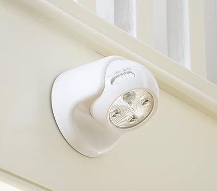 Auraglow con pilas del movimiento activado Sensor PIR inalámbrico extraíble Luz de seguridad LED