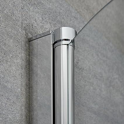 Mampara de Bañera Ducha 1400x8000mm Curva Vidrio Seguridad 6mm ...