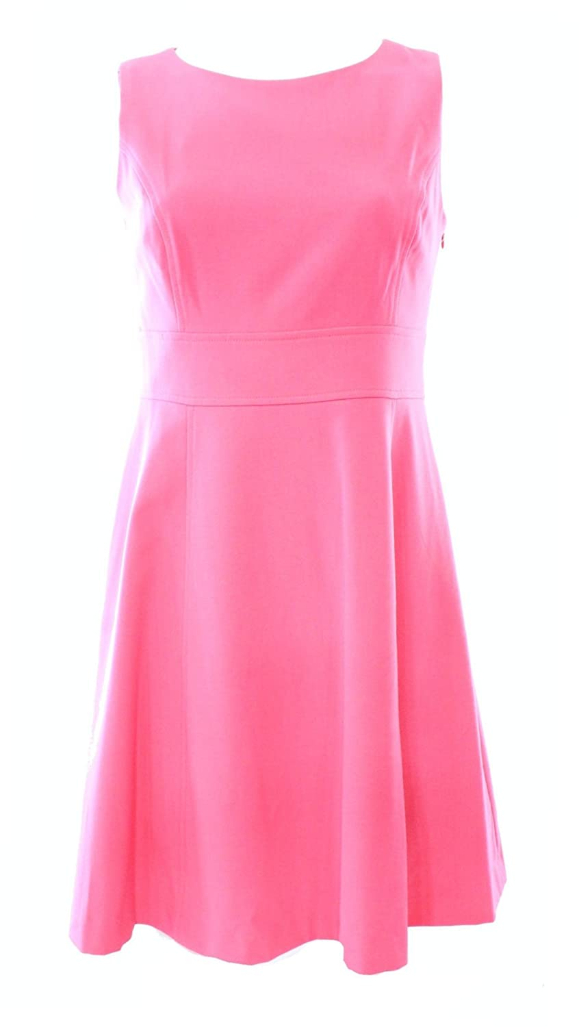 Nine West Women's Plus-Size Sleeveless Waist Inset Fit and Flare Dress