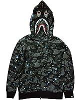 Sissiren Herren Leuchtend Himmel Hoodie Kapuzenpullover Unisex Kapuzen-Sweatshirt mit Samt