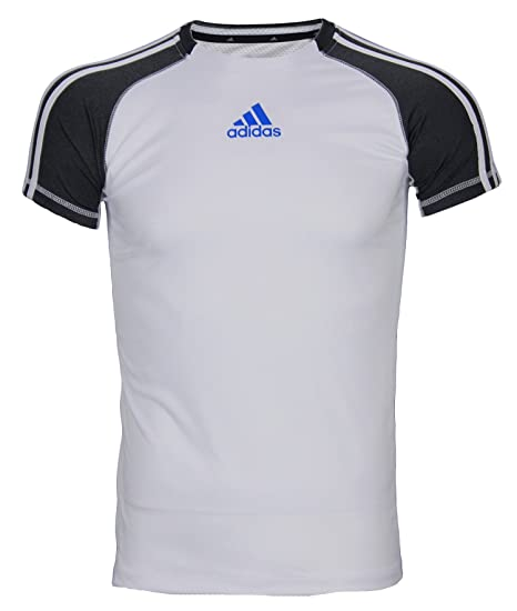 watch 5cfb8 8e0cf Amazon.com  adidas Big Boys Athletic Performance Climalite 3-Stripe Short  Sleeve T-Shirt  Clothing