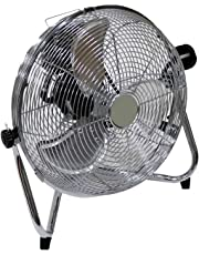 "Oypla Electrical 12"" Inch Chrome 3 Speed Floor Standing Gym Fan Hydroponic"