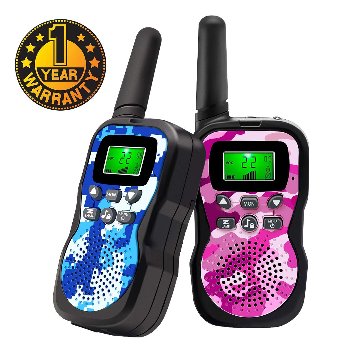 Walkie Talkies For Kids , Range Up to 3 Miles With Backlit LCD Display And Flashlight Walkie Talkies For Boys Girls Outdoor Toys For 3-12 Year Old Boys Girls Bset Gifts For 3-12 Year Old Boys Girls by Sun-Team (Image #1)