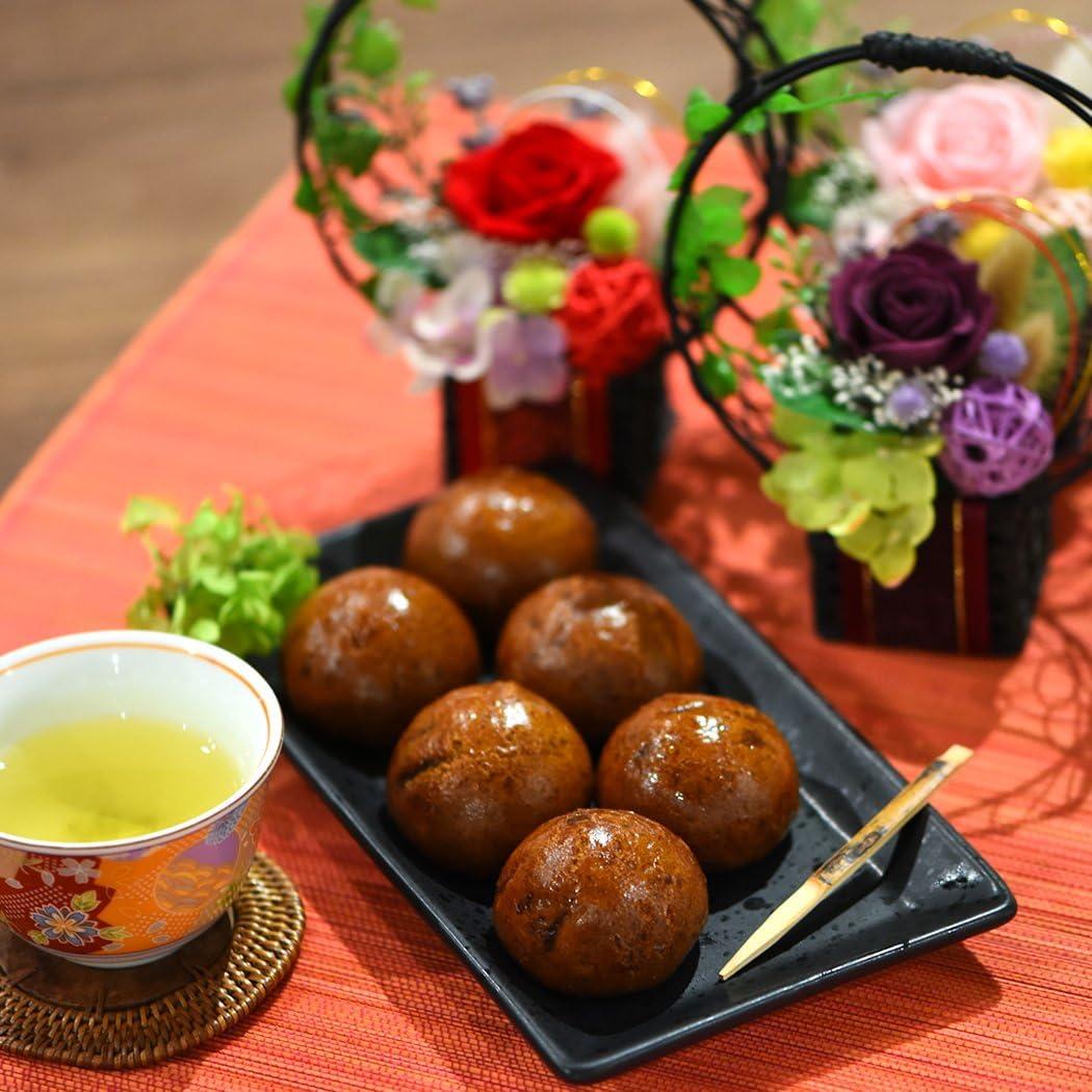 母の日 の プレゼント プリザーブドフラワー バラ 花とスイーツお菓子セット (かりんとう饅頭付・あか)