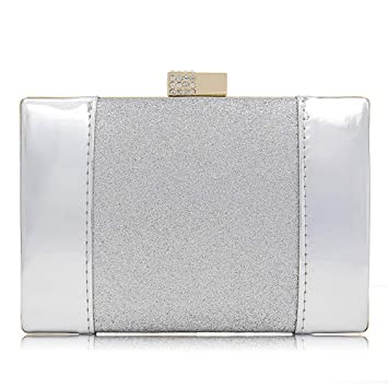 Superw Súper Flash PU Rhinestone Bolso Mujeres Embragues ...