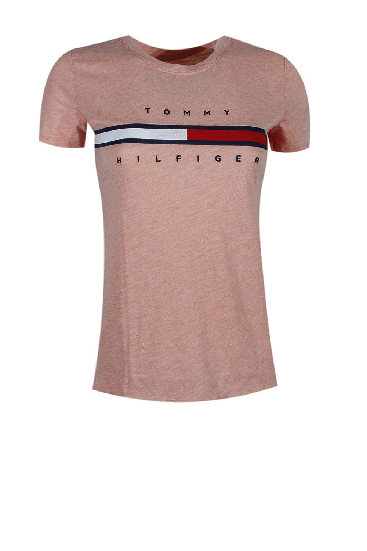 954e7d6cddf01 Amazon.com: Tommy Hilfiger Women's Big Logo Line T-Shirt: Clothing