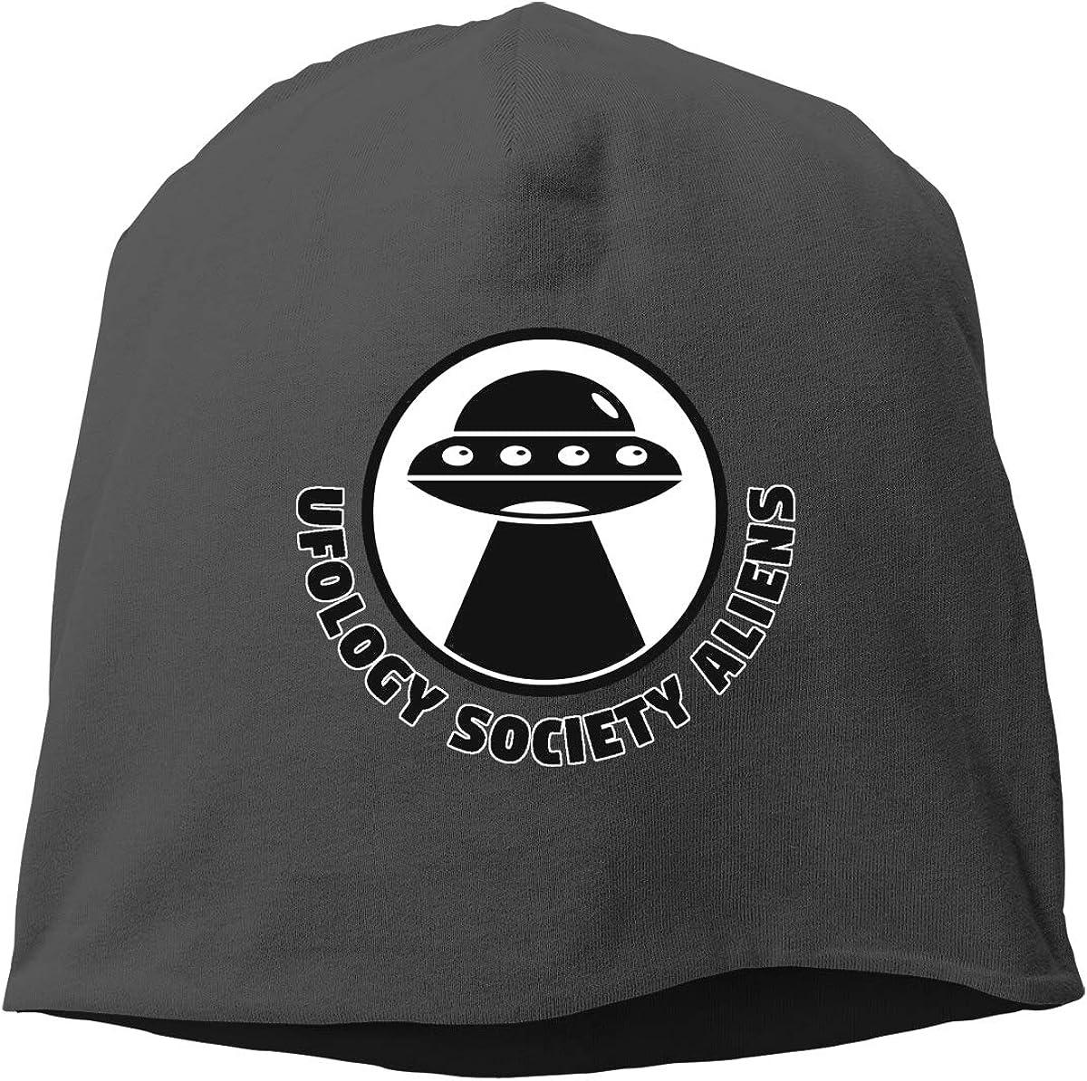 Ufology Society Aliens Logo Skull Cap Helmet Liner Beanie Cap for Men Hip Hop Hedging Head Hat