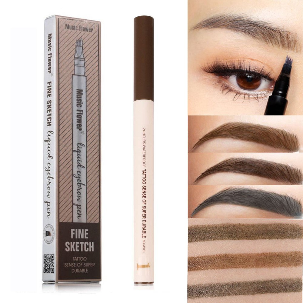 Amazon Microblading Eyebrow Pen Four Tips Long Lasting