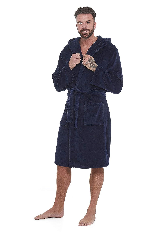 STONEBRIDGE Mens Dressing Gown Mens Bathrobe Hooded Super Soft