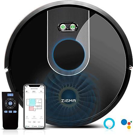 Zigma Robot Aspirador, Navegación Láser, Fregasuelos 4 en 1, Barre ...