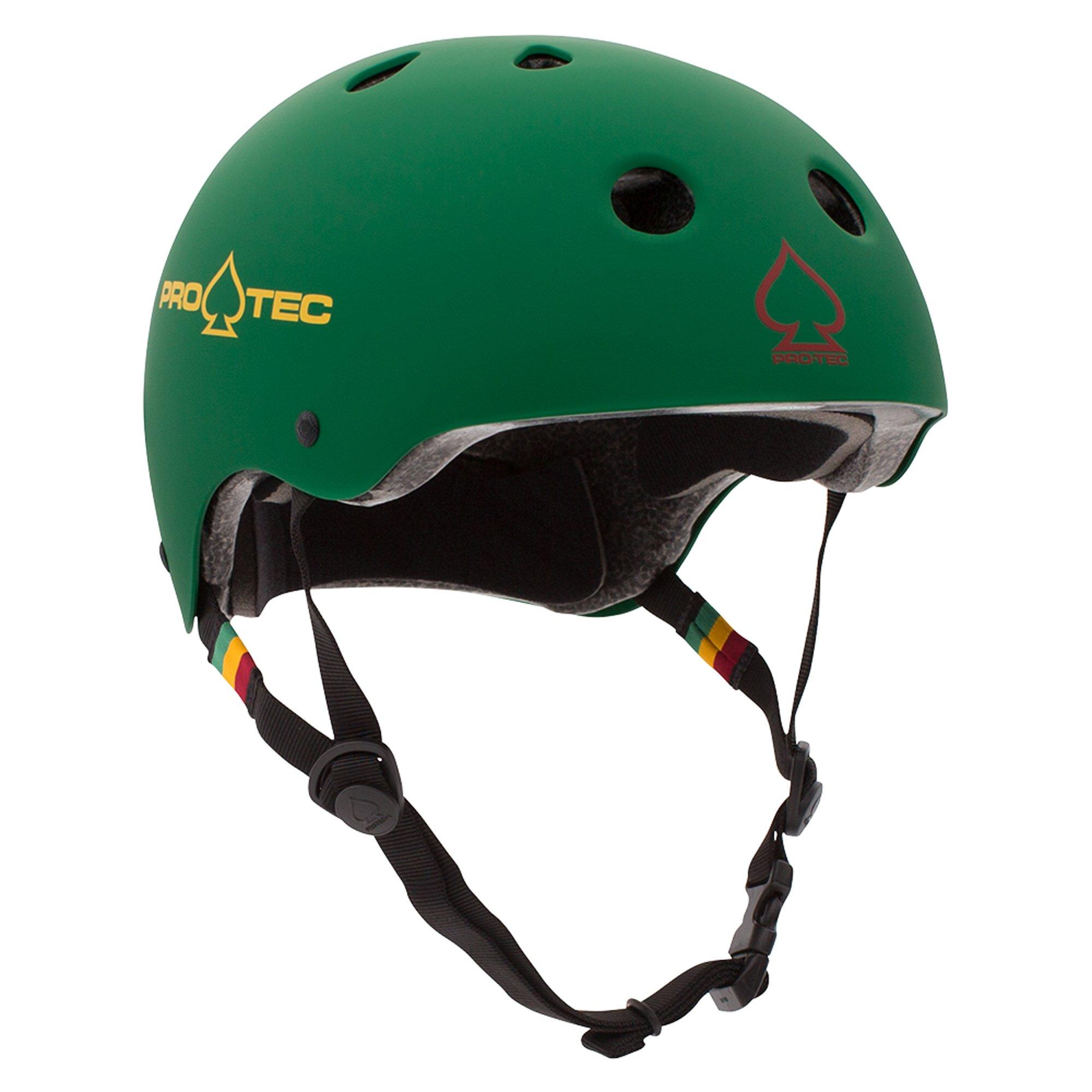 Pro-Tec PROTEC Original Classic Helmet CPSC-Certified, Matte Rasta Green, X-Small