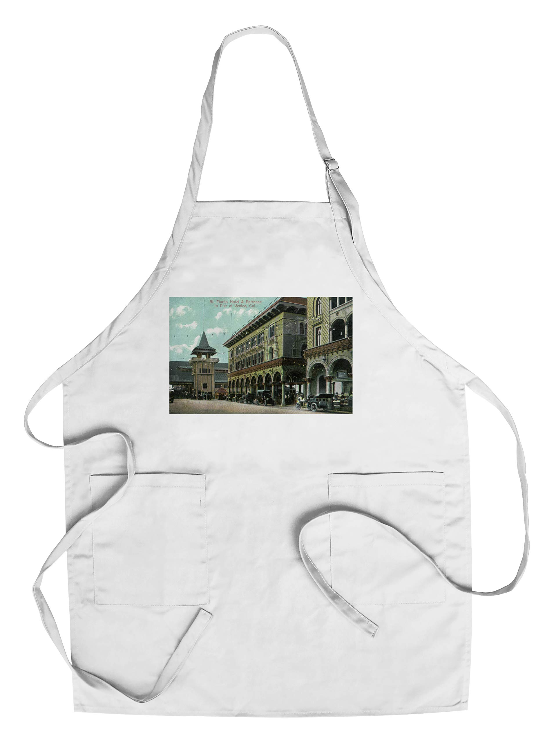 Venice, California - St. Mark's Hotel Entrance View (Cotton/Polyester Chef's Apron)