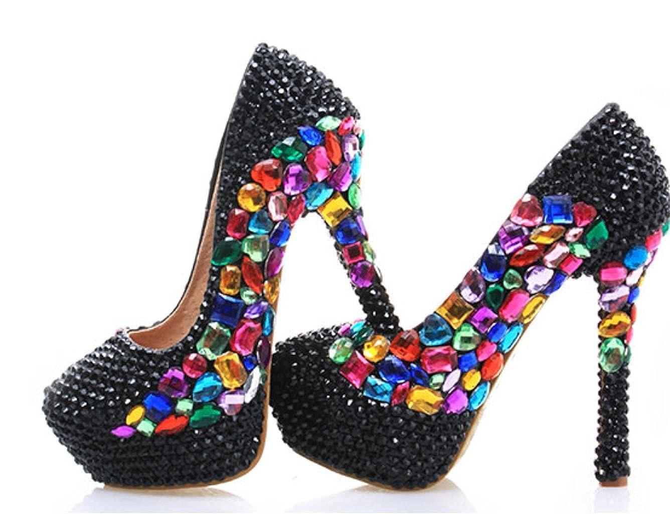 ChunSe Damen High Heels Frauen Schuhe Diamant Glitzer WunderschöNe Hochzeit Braut Abend Partei Kristall Farbe Diamant Schuhe High Heels 7da8a9