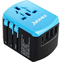 All In One Universal USB Travel Power Adapter With 3 USB Port And Type-C International Wall Charger Worldwide AC Power Plug 8 Pin AC Socket For Multi-nation Travel