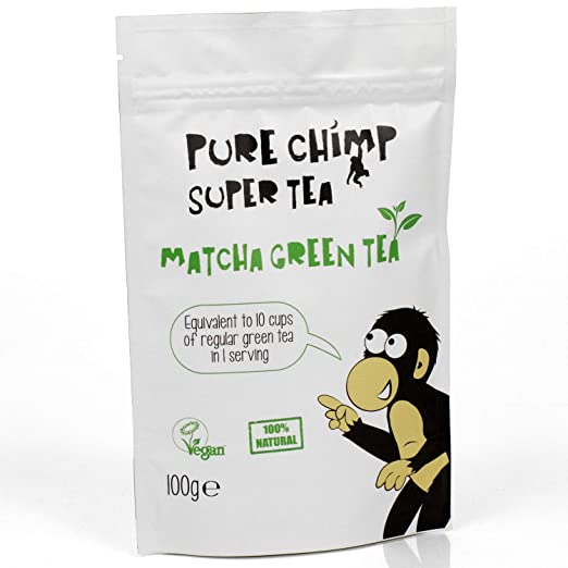 Matcha Green Tea Powder 100g (3.5oz) by PureChimp - Ceremonial Grade Matcha Tea From Japan - All Natural and Vegan
