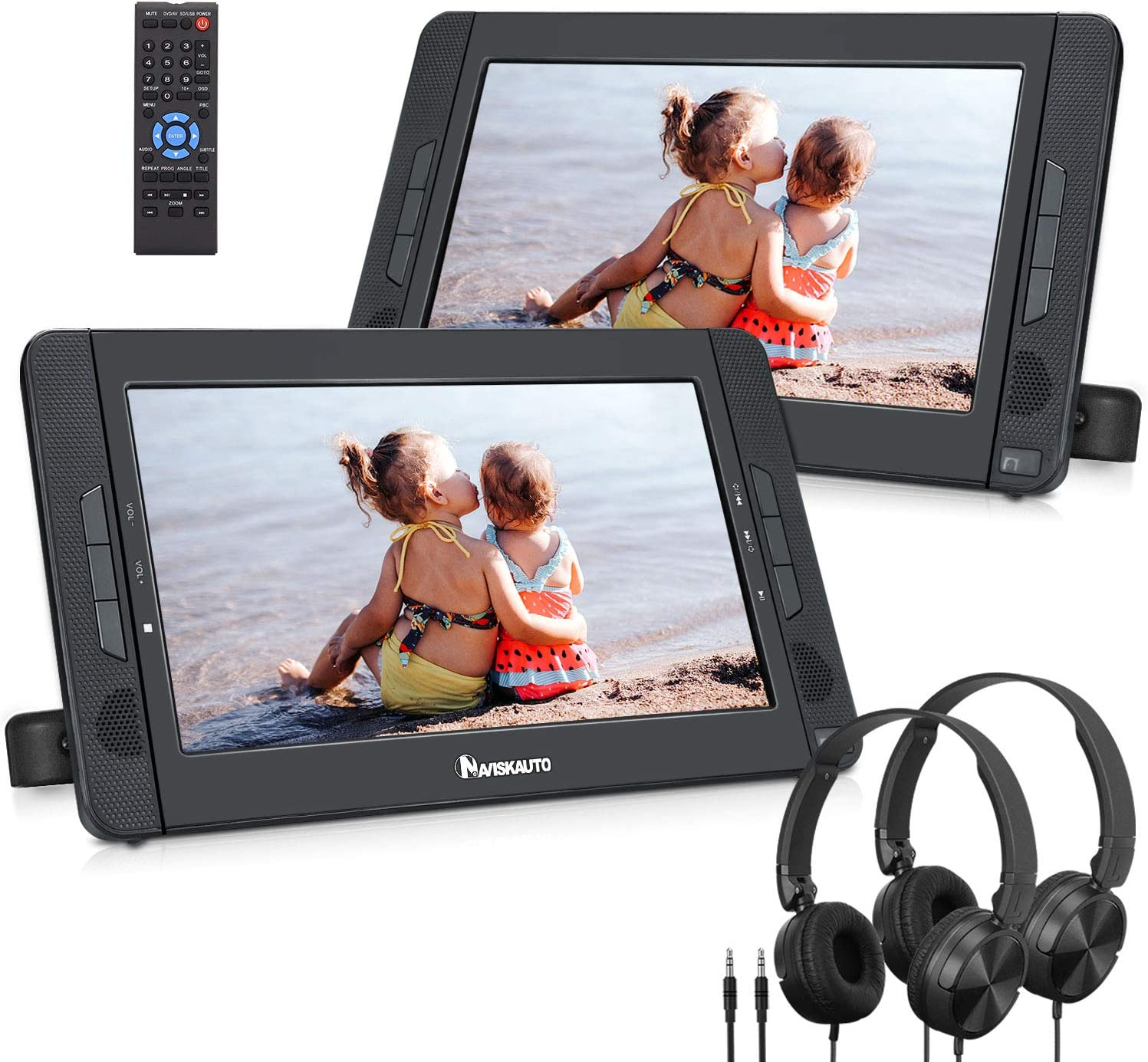 Naviskauto 10 Dvd Player Auto 2 Monitore Tragbarer Dvd Elektronik