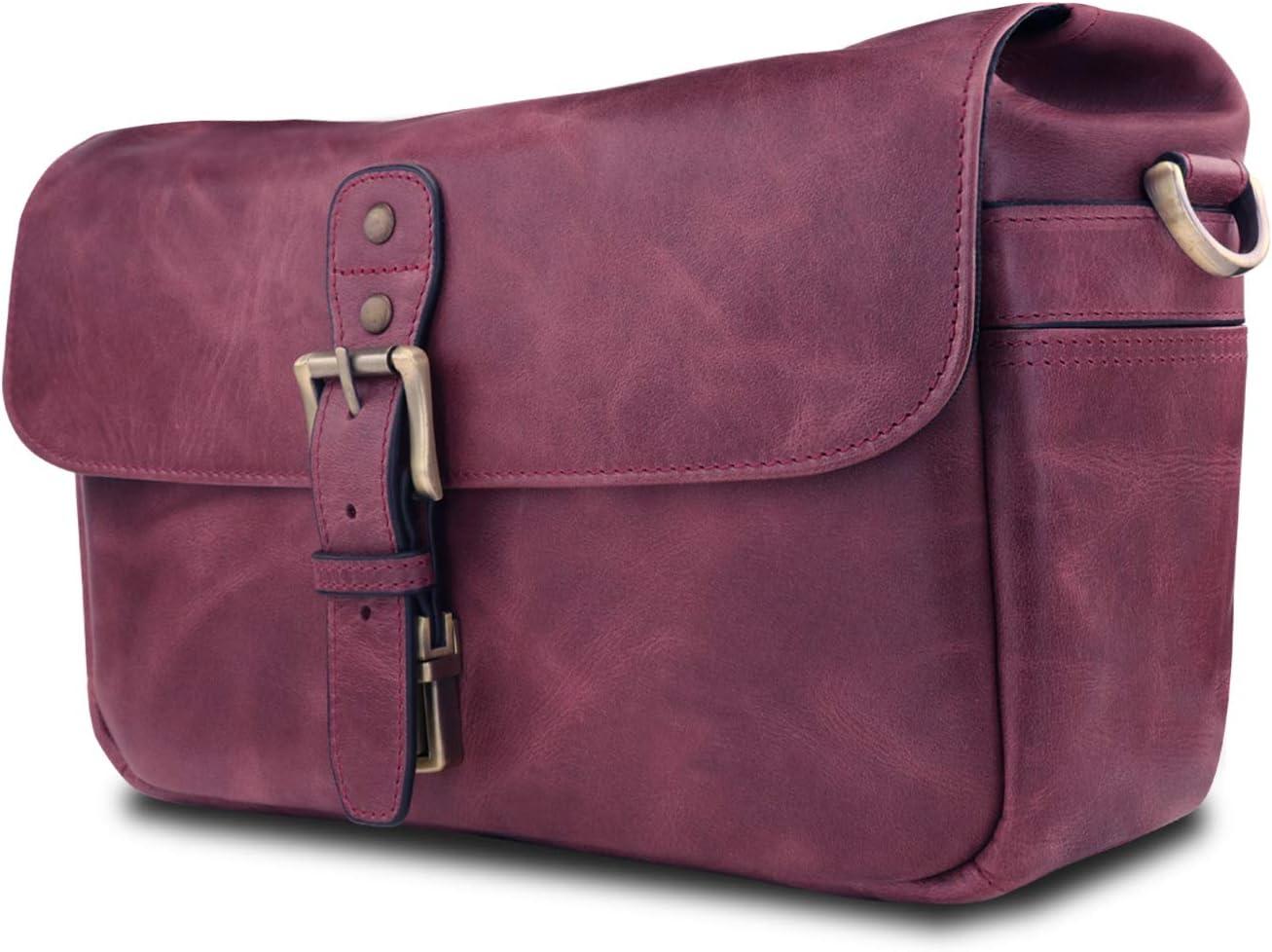 MegaGear Torres Genuine Leather Camera Messenger Bag for Mirrorless Instant and DSLR Cameras