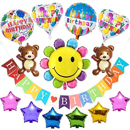 Rainbow Feliz cumpleaños Globos Decoraciones para fiestas ...