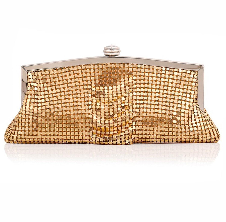 Abless Womens Glamour Elegant Evening Clutch Fashion Purse Chain Handbag - SK817