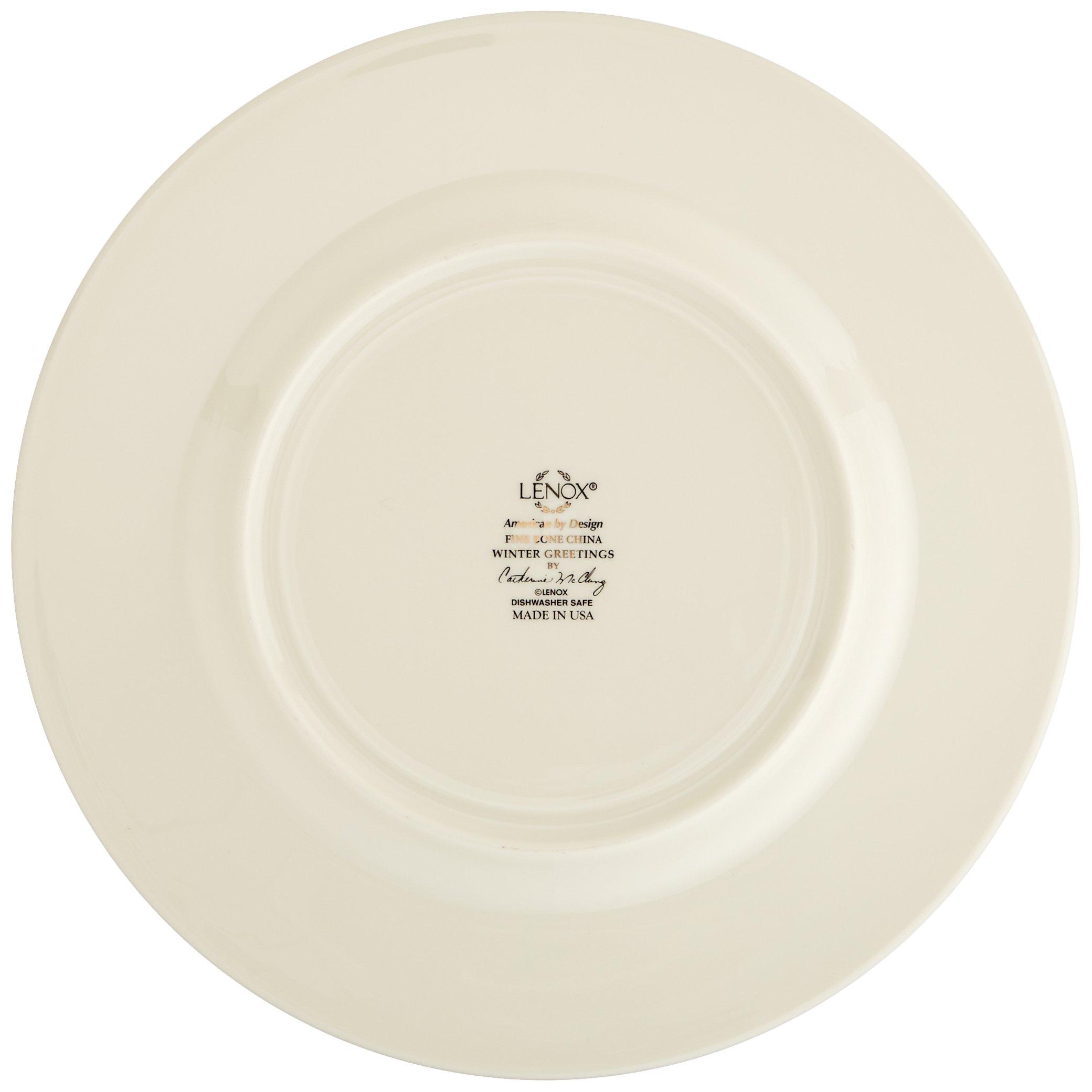 Lenox Winter Greetings Set of 6 Salad Plates,Ivory by Lenox (Image #5)
