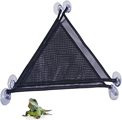 Lounger /& Ladder Accessories Set for Large /& Small Bearded Dragons Anole Geckos Lizards or Snakes Breathable Mesh Lizard Hammock 2 Pack of Reptile Hammock Set