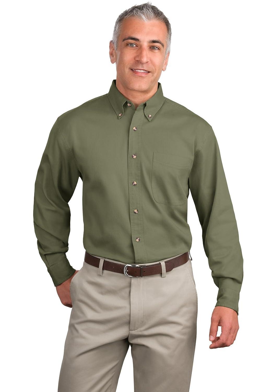 Port Authority Mens Long Sleeve Twill Shirt